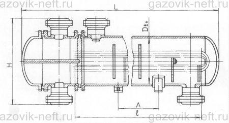Теплообменник с u-образными трубами печь-каменка кирасир стандарт с теплообменником